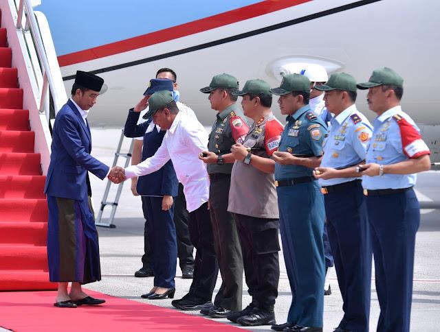 Kunjungan Kerja ke Sumut, Presiden Jokowi Menyambangi Kabupaten Langkat
