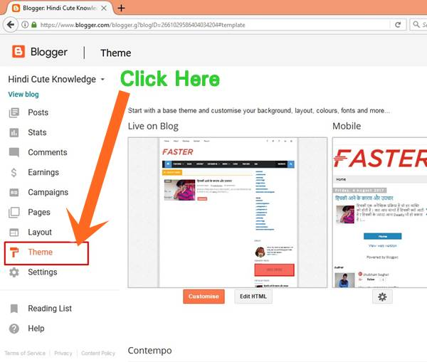Step By Step Guide For How To Change Your Blogger Template ~ Cute ...