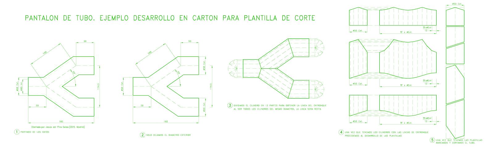 desarrollo y trazado de pantalón para fabricar con lamina o tubo ...