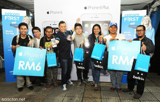 Only RM6 for the latest models of iPhone 6 for the first 6 customers in line! Congratulations!