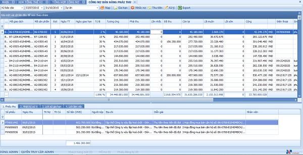 Phần mềm quản lý tòa nhà giúp GP.Invest quản lý công nợ chính xác, rõ ràng