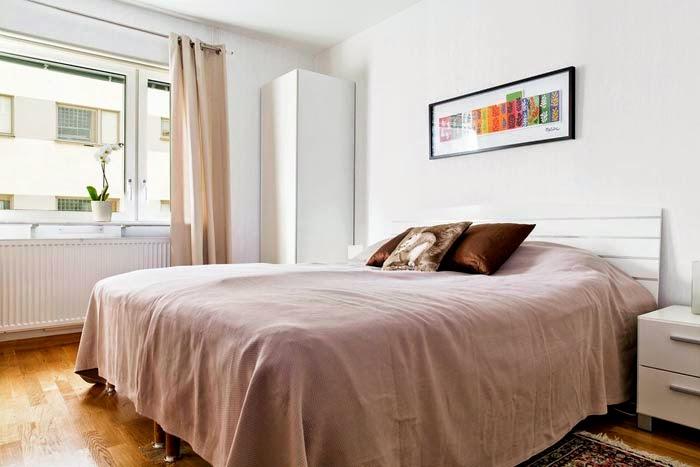 интерьер спальни в скандинавском стиле