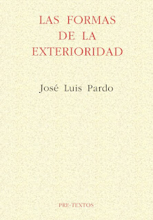 """""""Las formas de la exterioridad"""" - José Luis Pardo."""