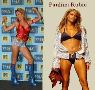 Paulina Rubio de mujer maravilla