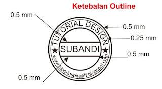 Ukuran Outline Stempel