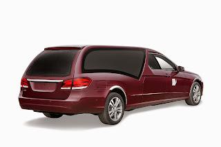 Corbillard limousine Mercedes, rideaux système BERGLASS