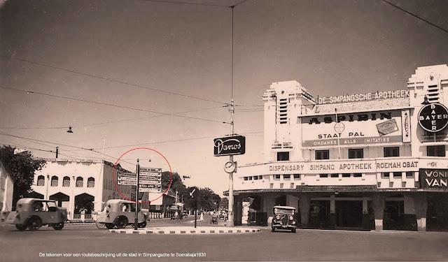 Apotek Simpang yang berada di Jalan Tunjungan. Saat ini bangunan tersebut masih ada, namun mengalami perubahan bentuk. (sumber : Serba sepuh)