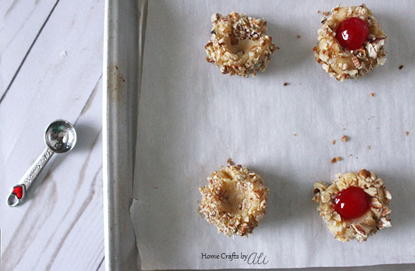 Thumbprint cookie recipe with maraschino cherries