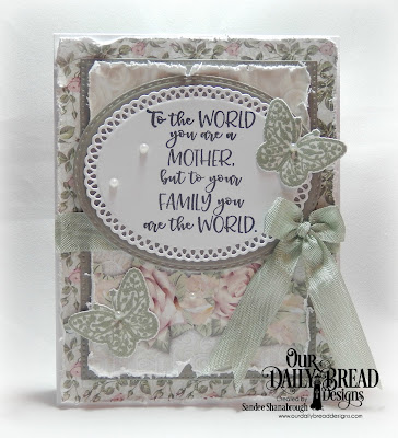 Our Daily Bread Designs Stamp/Die Duos: The Greatest Gift, Custom Dies: Pierced Rectangles, Double Stitched Ovals, Ornate Ovals, Paper Collection:Romantic Roses