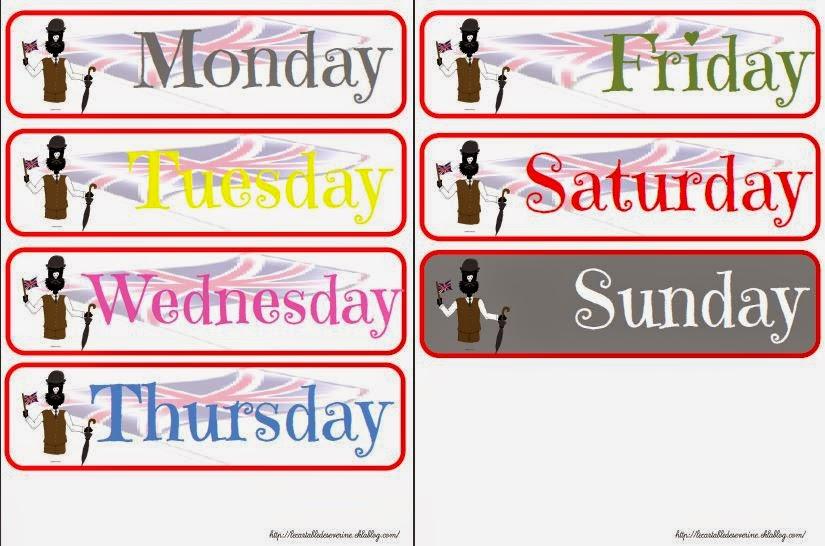 jours de la semaine en anglais ce2 eq59