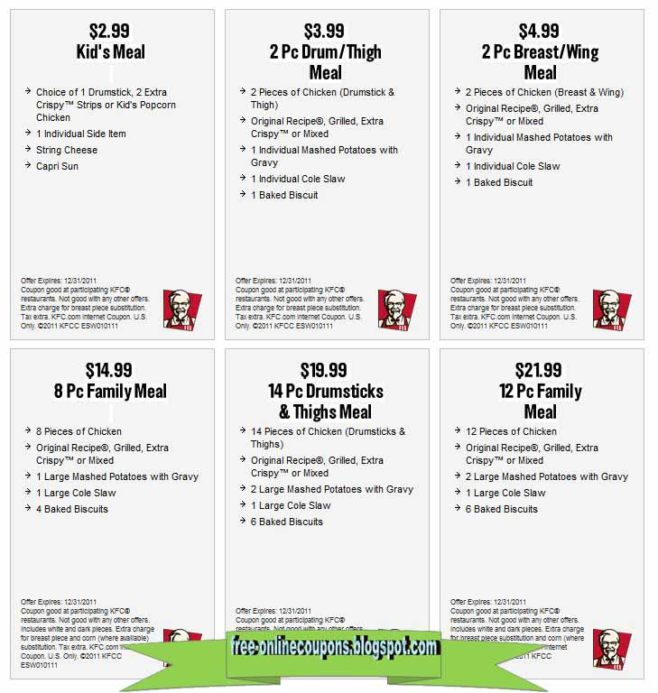 It is a graphic of Stupendous Kfc Coupons 2020 Printable