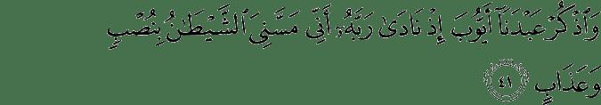 Surat Shaad Ayat 41