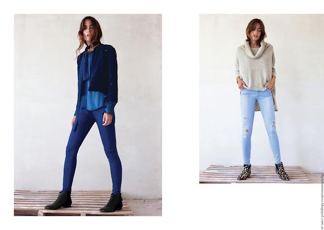 Moda invierno 2016 ropa de mujer invierno Pura Pampa jeans.