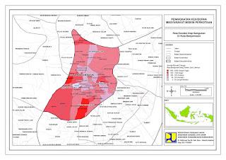peta kota banjarmasin berdasarkan kondisi bangunannya