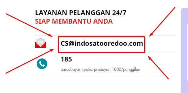 Customer Service Indosat Via Email CS@indosatooredoo.com Terbaru 2019