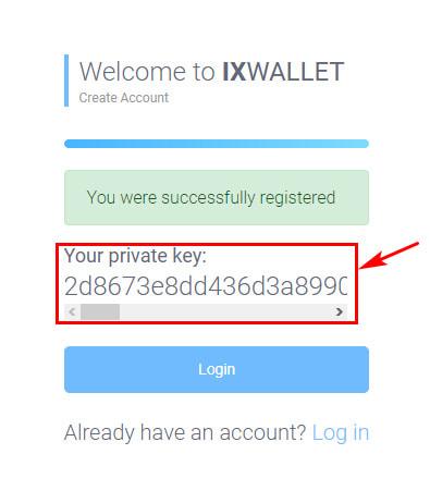 Регистрация в IX Wallet 5