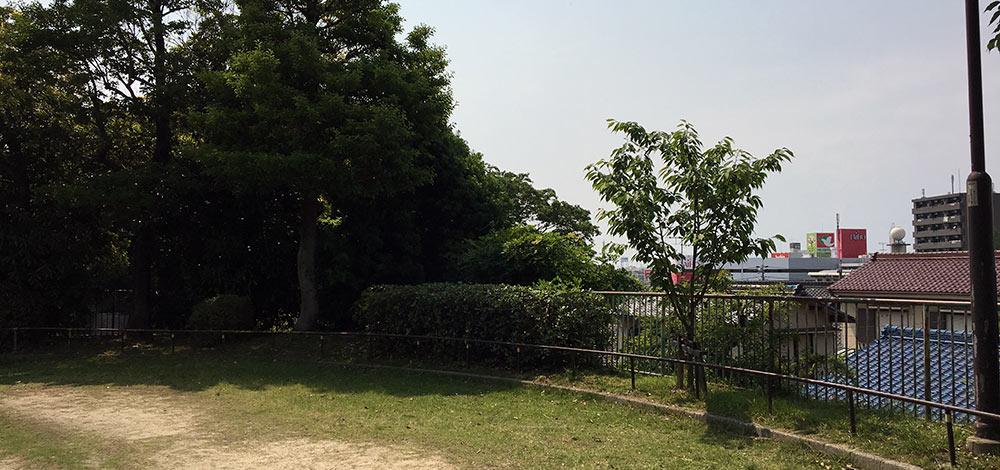 鳴海城跡公園から名古屋市街地を望む(2017年6月10日撮影)