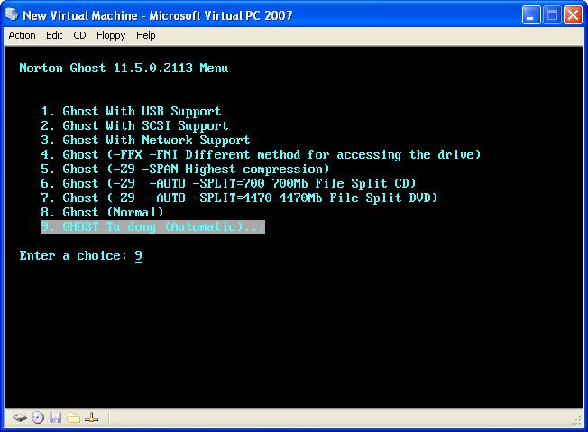 Tạo Norton Ghost 11.5 cho USB gọn, nhẹ nhàng, hiệu quả