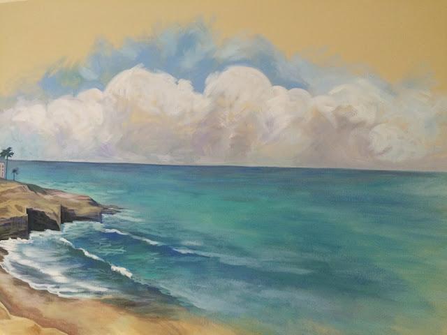 la jolla california, la jolla san diego, la jolla painting, ocean mural, seascape mural, socal mural