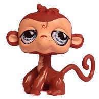 Littlest Pet Shop Large Playset Monkey (#485) Pet