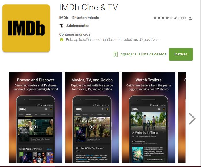 Descargar La aplicacion IMDb Movies & TVpara Android