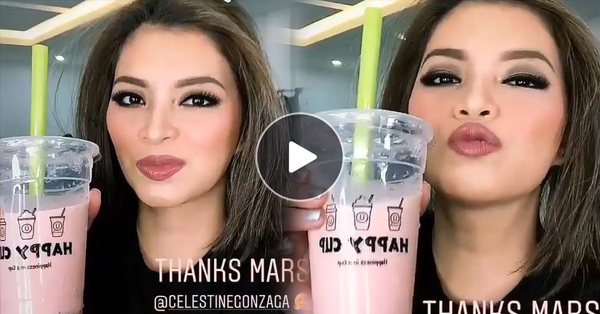 Angel Locsin Enjoys Her 'Happy Cup' Treat From Toni Gonzaga