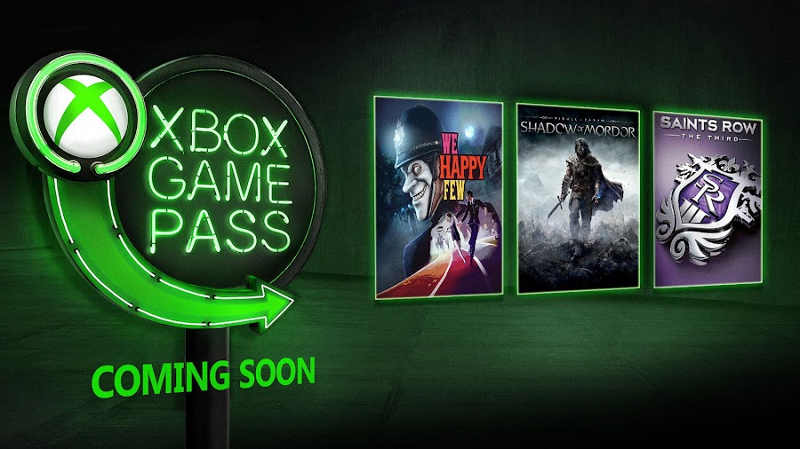 xbox game pass middle earth xbox we happy few 2019