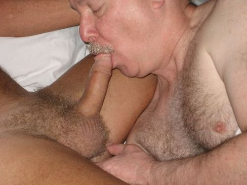 hairy gay daddy blowjob