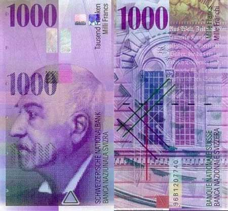 Papercraft - Swiss Banknote CHF 1000 - Papercraft4u  Free Papercrafts, Paper Toys, Paper Models