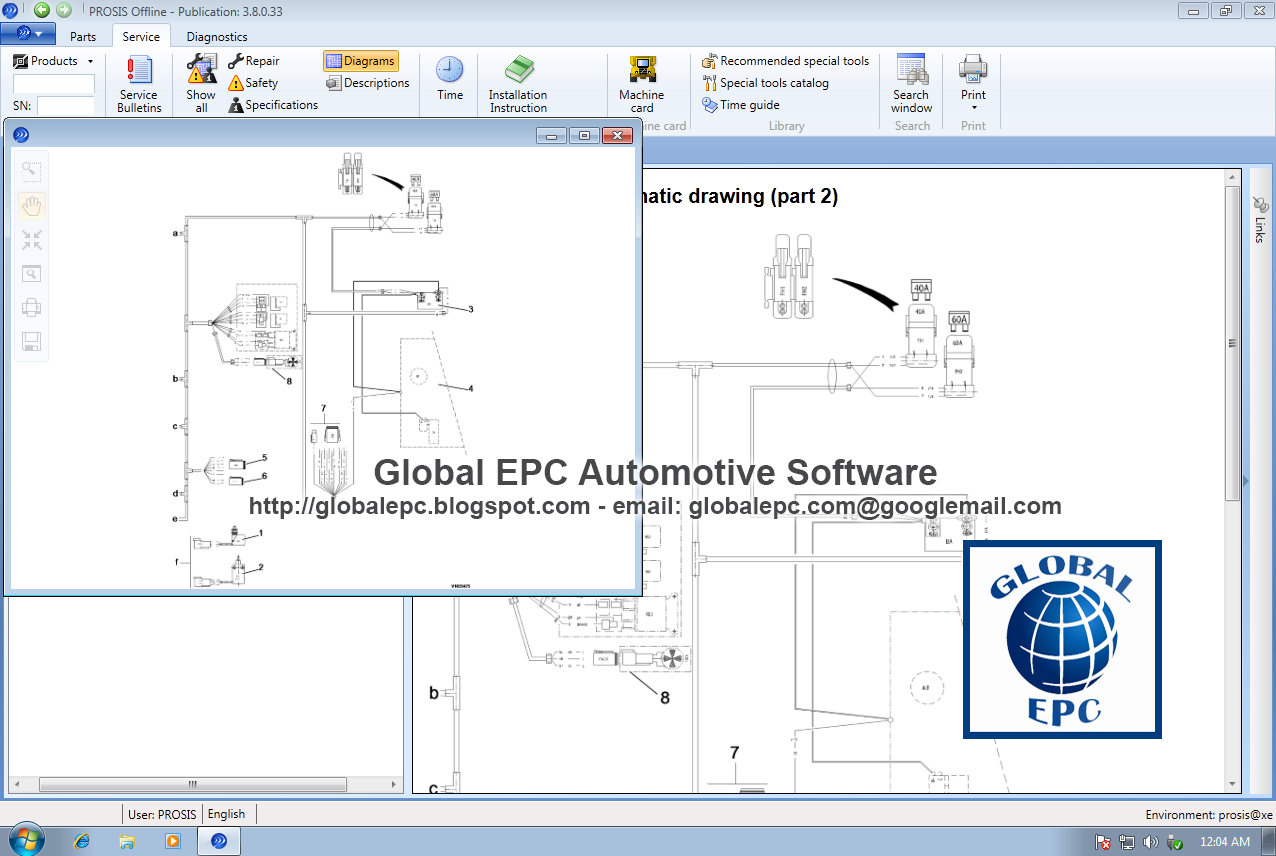 Global Epc Automotive Software Volvo Prosis Offline 2015 Repair L50d Loader Wiring Diagram Media 3 Dvd Discs 012015
