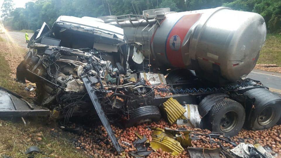 Acidente BR 116 em Itaiópolis