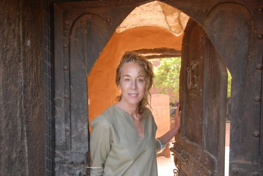 Katharine L Heureux is opening a traditional Moroccan door