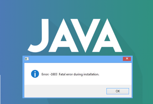 Java Error 1603 Java Update did not complete. Fatal error occurred