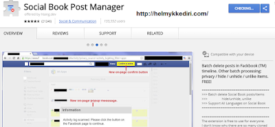 Cara menghapus semua postingan lama difacebook