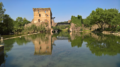 Borghetto and the Visconti bridge/dam.