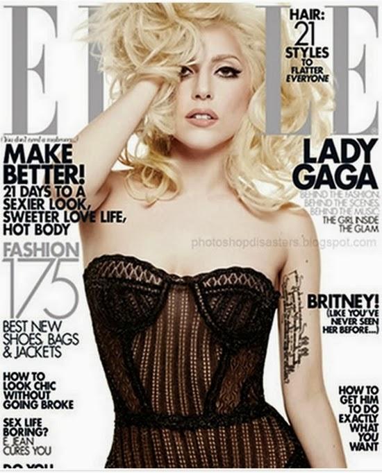 Lady Gaga  - Erros bizarros de photoshop em famosos e celebridades