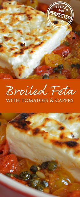 Broiled Feta with Garlicky Cherry Tomatoes