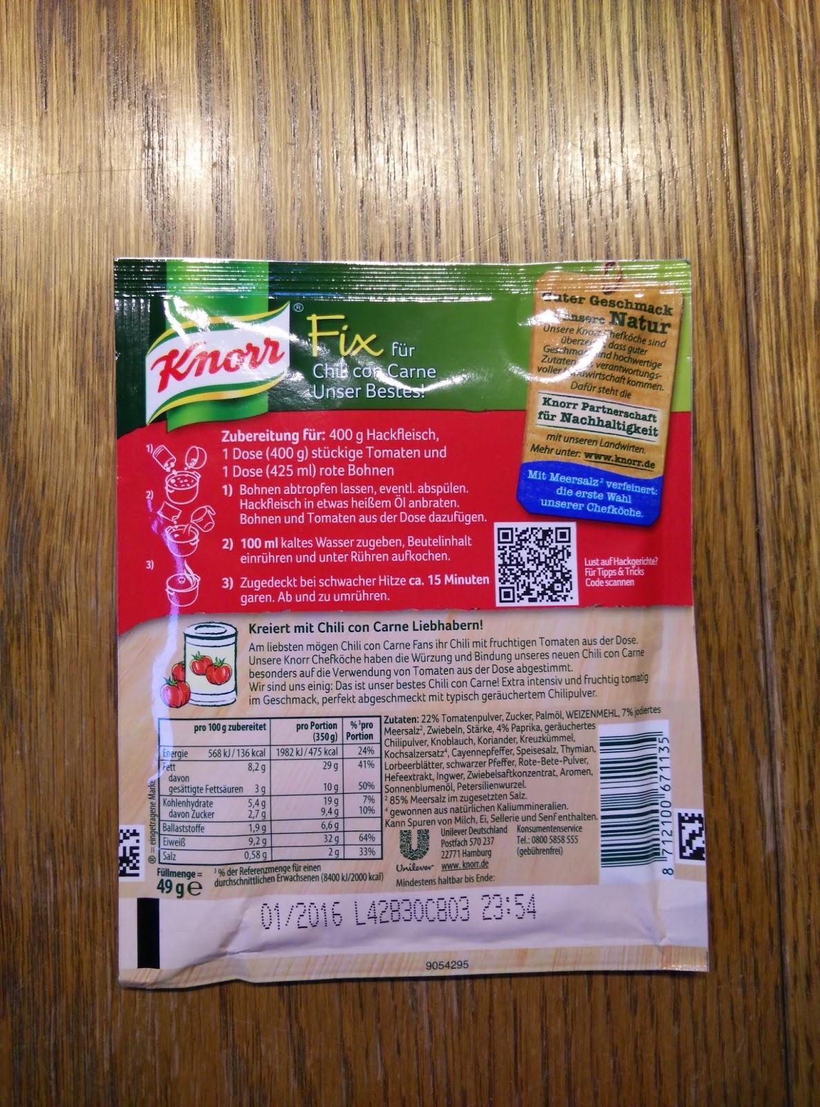 Nadine Testet Produkte Knorr Chili Con Carne Unser Bestes