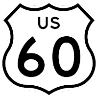 us highway 60 sign