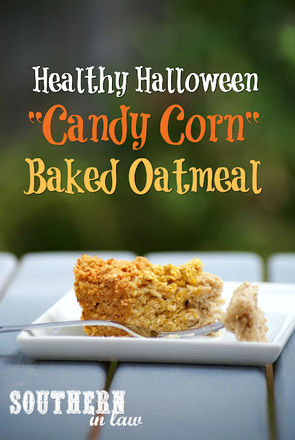 Healthy Halloween Baked Oatmeal Recipe - low fat, gluten free, healthy, vegan, clean eating recipe, healthy breakfast recipes, freezer friendly,  make ahead breakfast recipe, meal prep