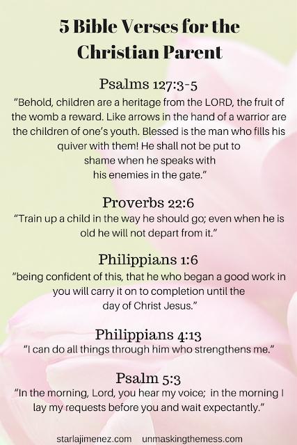 Help for the Christian parent. 5 Bible verses every Christian parent needs.
