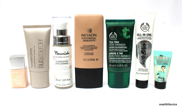 one little vice beauty blog: affordable and luxury primers for hot weather