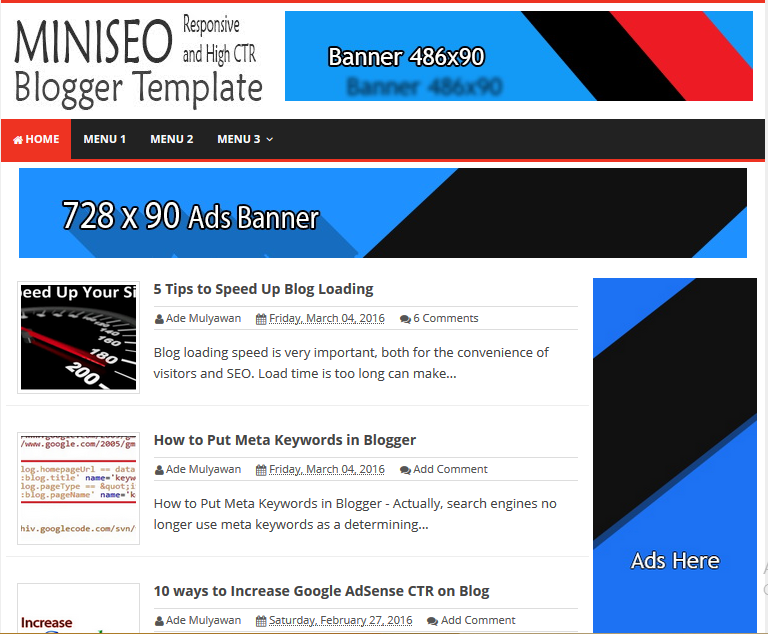 MiniSEO Responsive High CTR Blogger Template - Blogger templates for ...