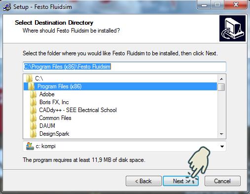 Gambar 5 : Install Festo FluidSIM