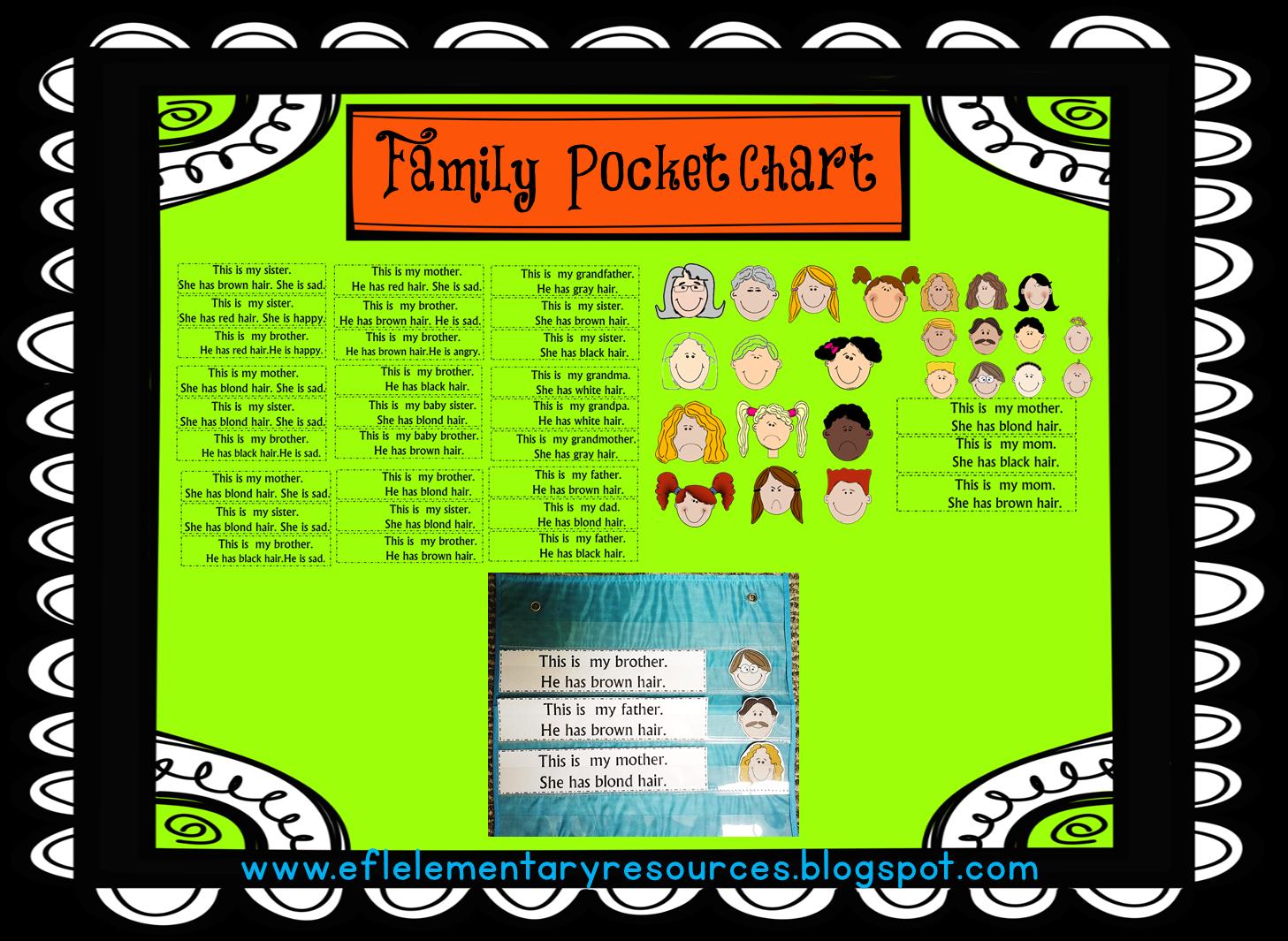 Efl Elementary Teachers Family Theme For Elementary Ell