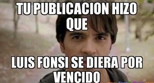 """Luis Fonsi """"Tu publicacion hizo que luis fonsi se diera por vencido"""""""