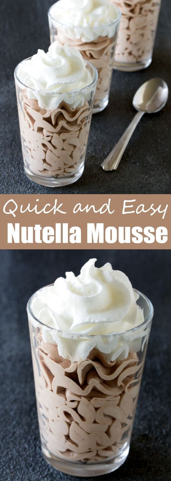 QUICK AND EASY NUTELLA MOUSSE #quickrcipes #easyrecipes #nutella #mousse #easyfoodrecipes