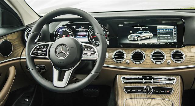 Mercedes E200 2019 facelift sử dụng Hệ thống giải trí tiên tiến và hàng đầu của Mercedes hiện nay