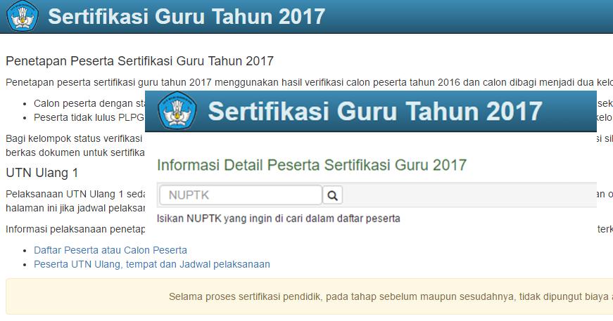 Cara Cek Data Sergur Tahun 2017 Link Terbaru Kurikulum 2013 Revisi
