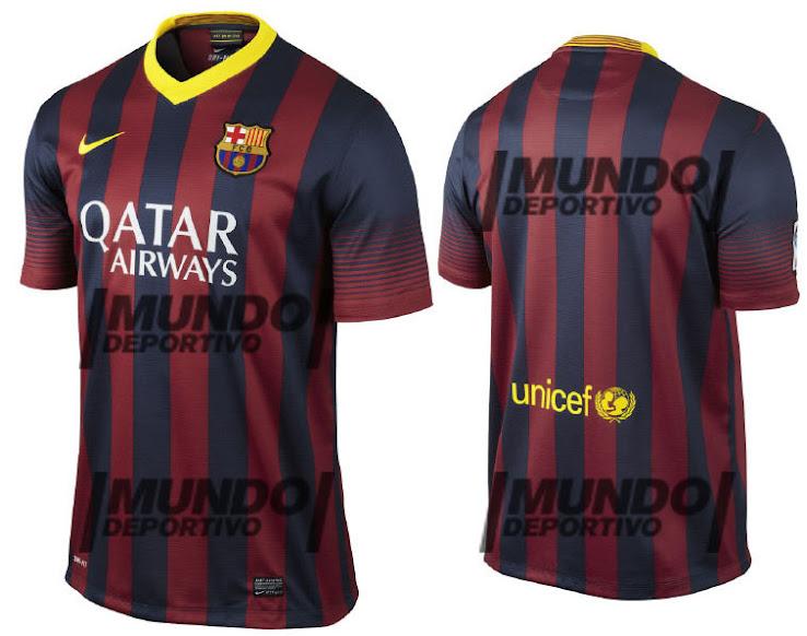 promo code 7ff81 c4563 Official FC Barcelona Kit For 2013/2014 Leaked - European ...